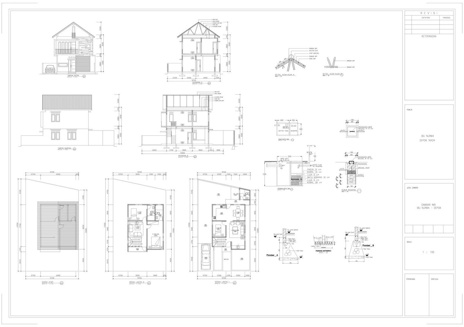 62 Contoh Gambar Rumah Imb Gratis Terbaru